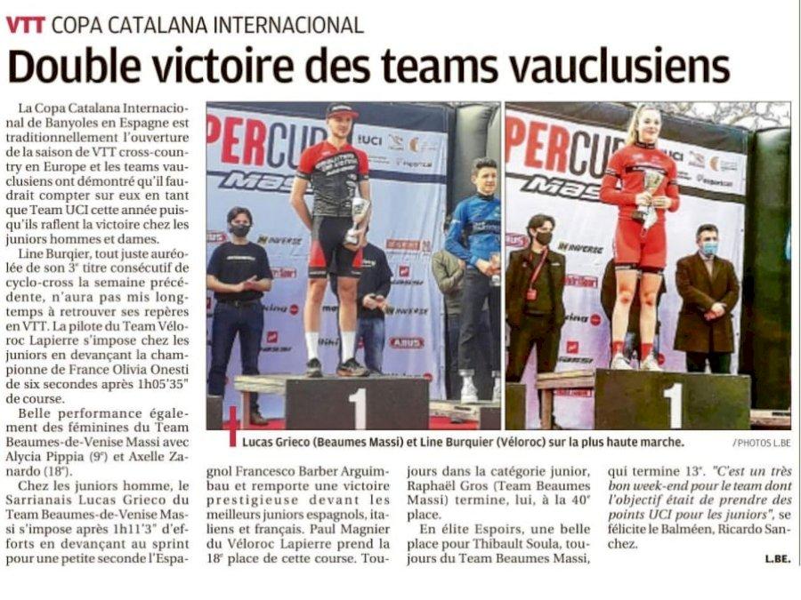 1ère participation du Team Beaumes de Venise  MASSI à une XCO UCI