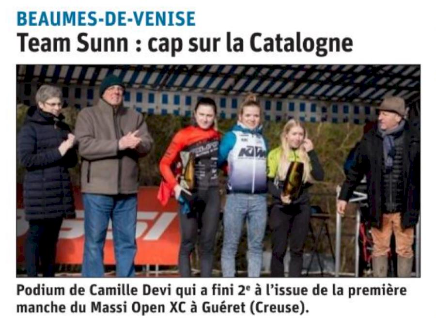Podium de Camille Devi qui a fini 2ème